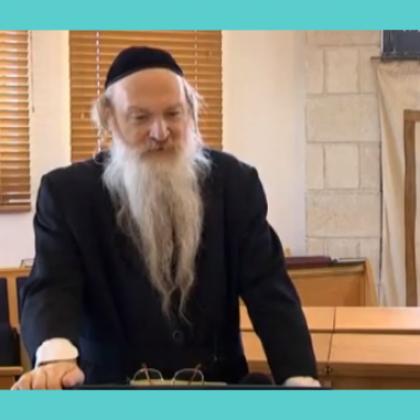 """הרב סטבסקי 5 – חנוך לנער עפ""""י דרכו"""